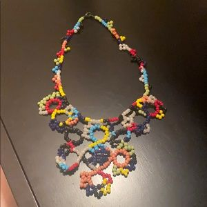 Anthropologie multi color bead necklace